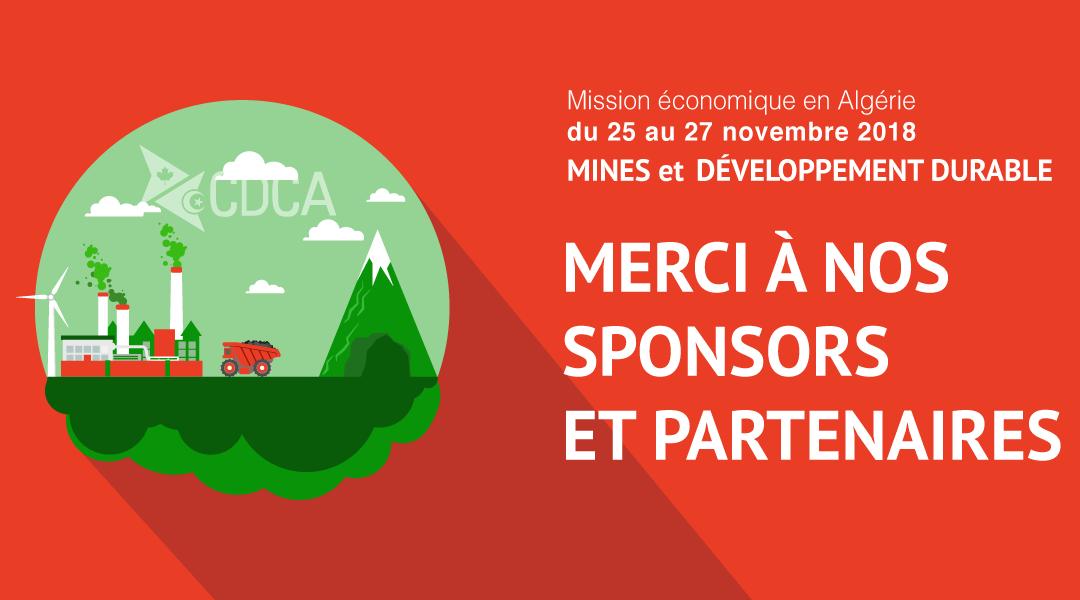 Nos sponsors et partenaires de la mission Mines et Développement durable