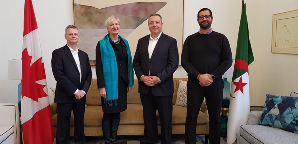 Président du CDCA : Rencontre avec l'Ambassadeur du Canada en Algérie